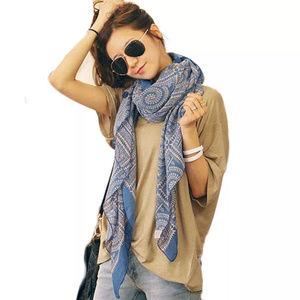 5/$20 Mix & Match Blue and Tan Boho Fashion Scarf